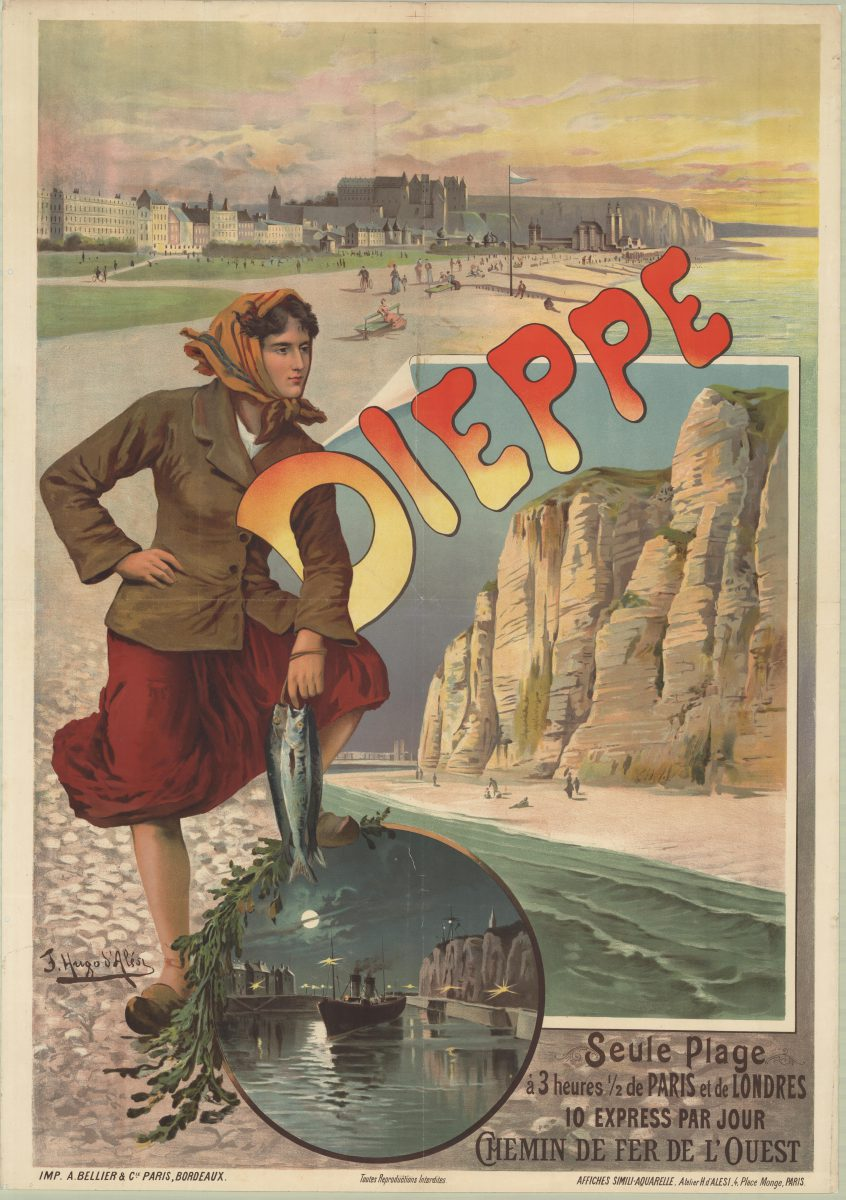 Dieppe, posters issued by the Western Railways