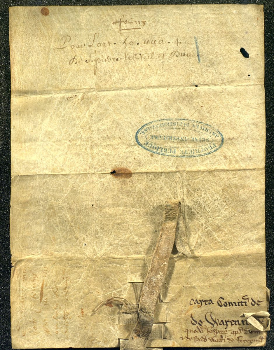 Charter of William of Warenne, son of the first Lord of Lewes