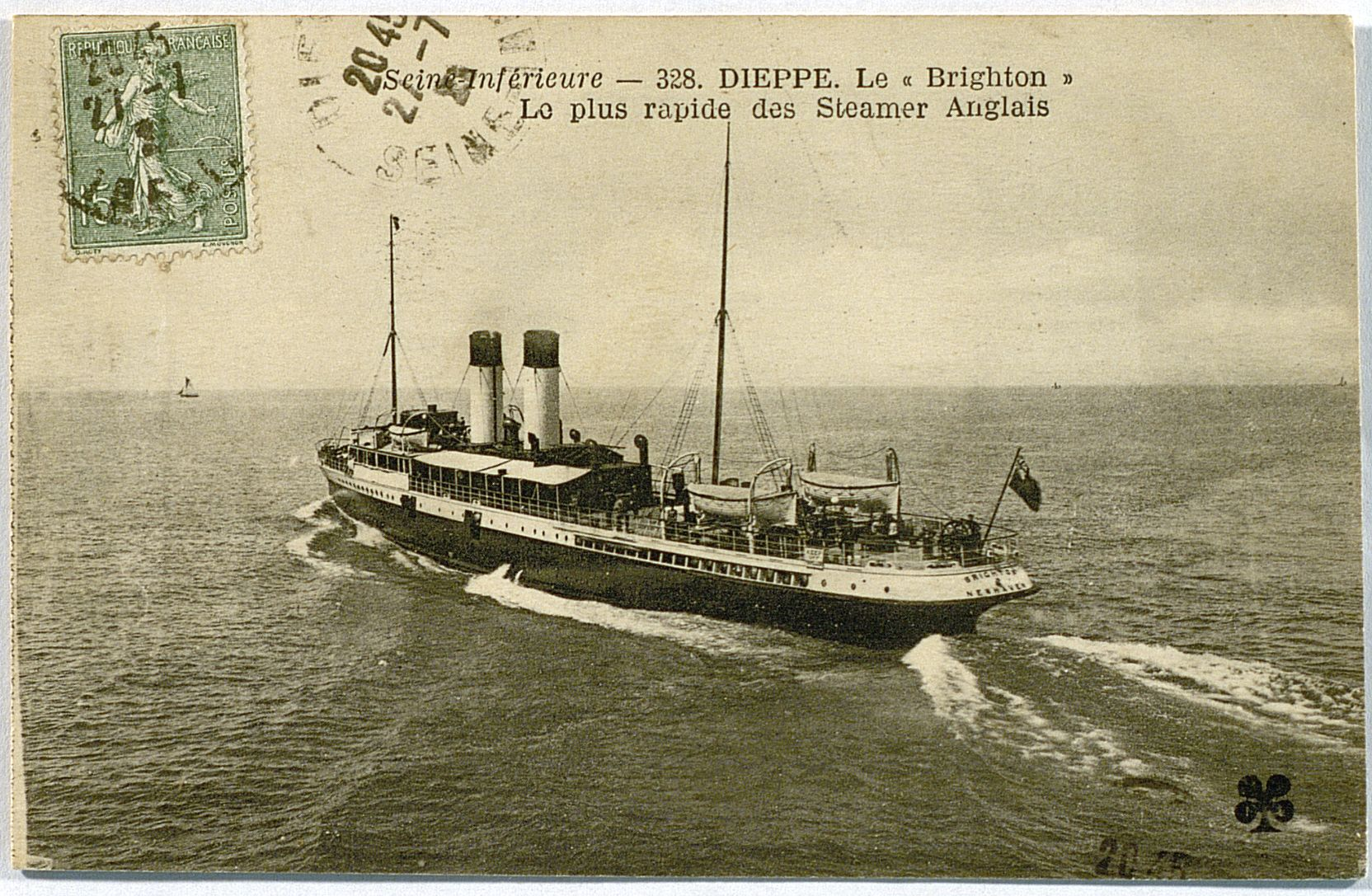 Dieppe, The Newhaven steamer entering port