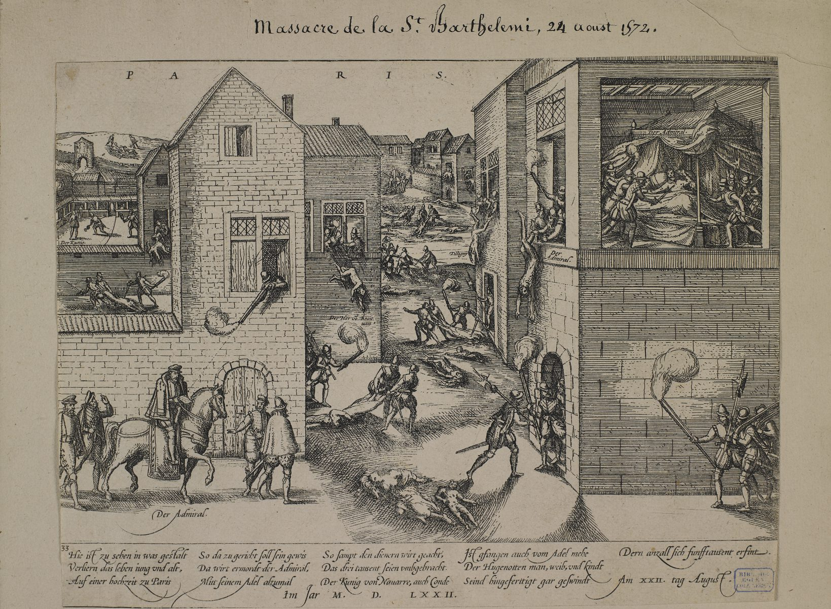 Massacre of Saint-Bartholomew, 24 August 1572