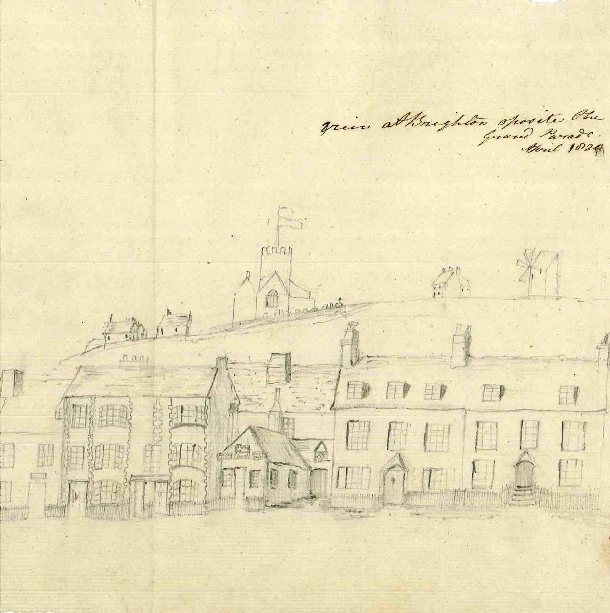 Illustrated diary of Frances Sayer's visit to Brighton in 1818