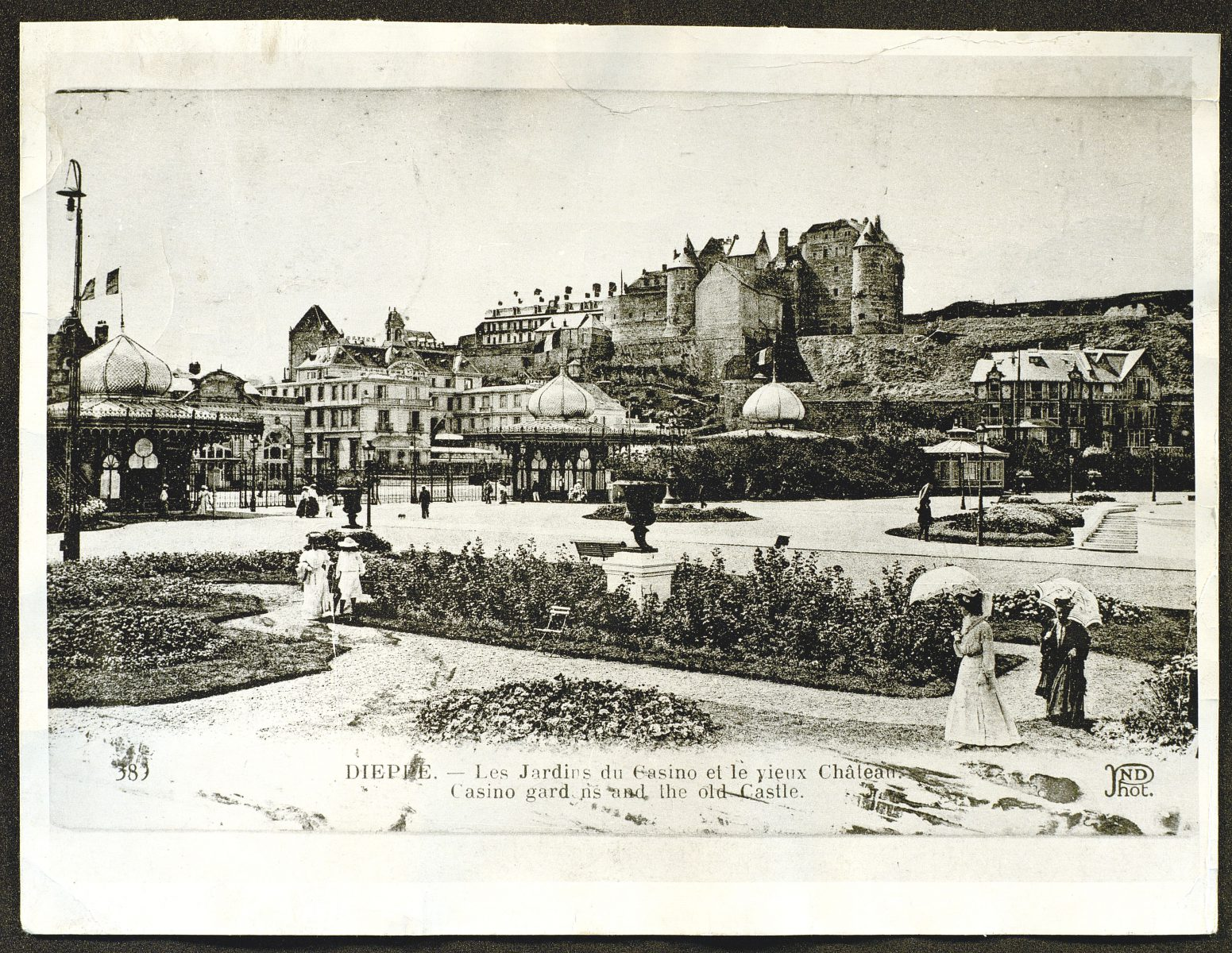 Casino, Old Castle and baths at Dieppe