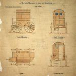 Copy of a plan of a bathing machine which was sent to Canada from the archives of the Brighton Borough Engineer and Surveyor's department, 1894 (ESRO, DB/D/46/606)