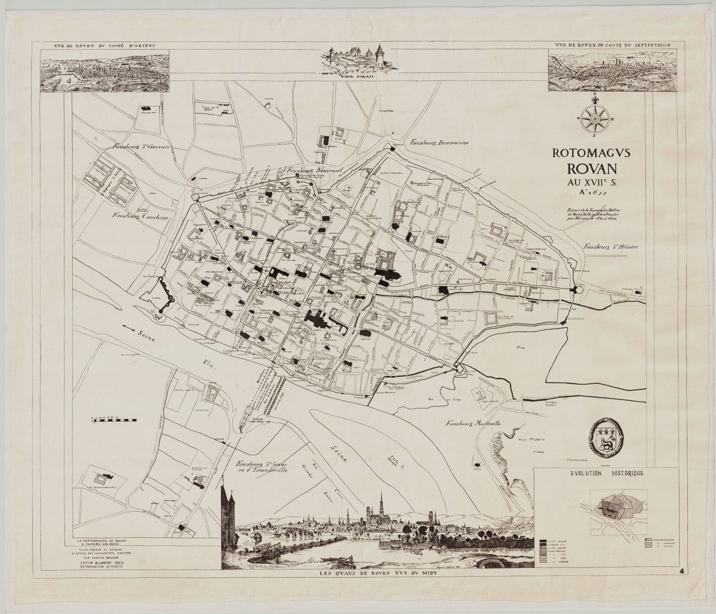 Maps of Rouen