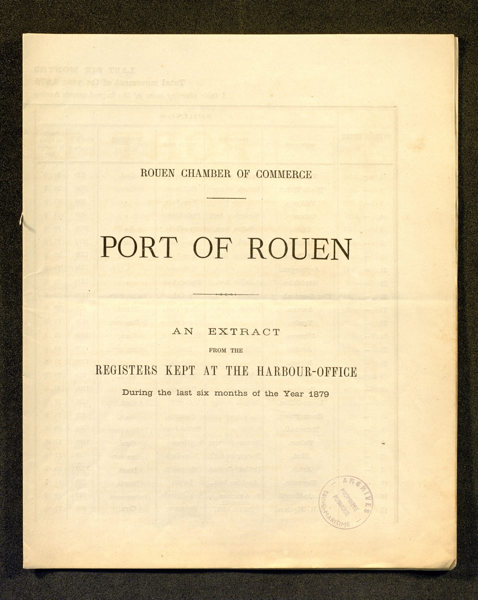 Movements of vessels in the port of Rouen